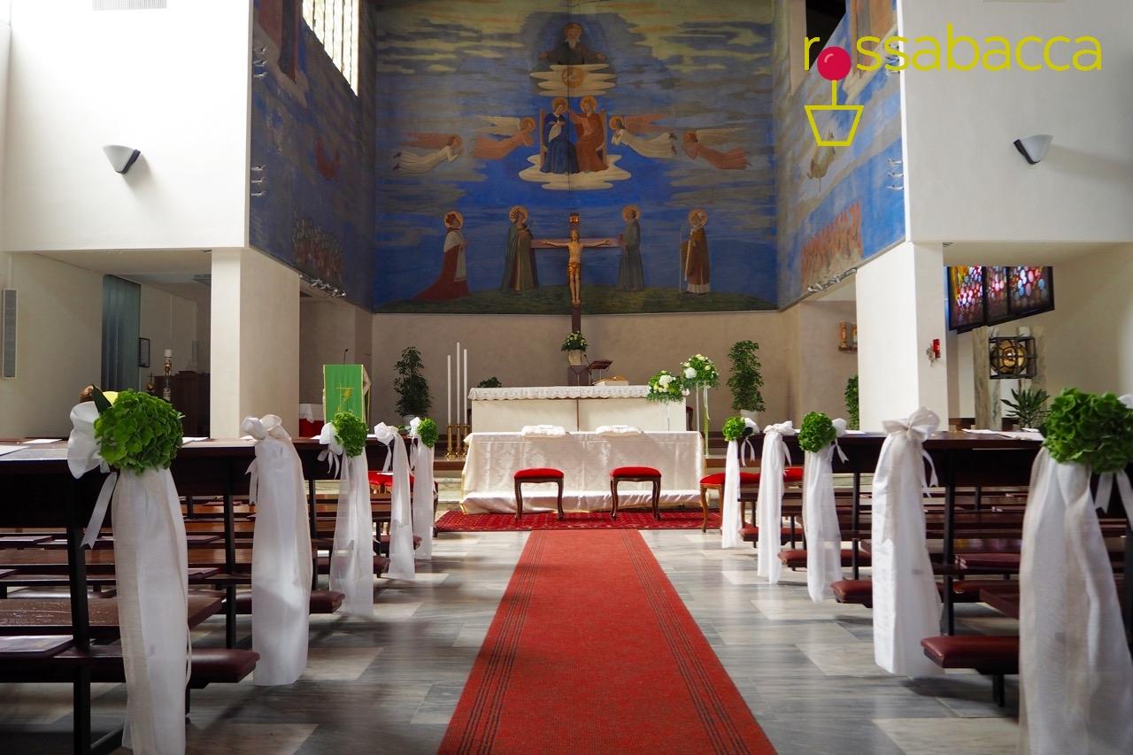 Allestimento Chiesa Ortensie : Allestimento chiesa rossabacca